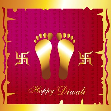 beautiful traditional indian diwali festival background Vector