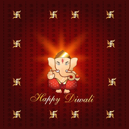 beautiful diwali background with lord ganesh Vector