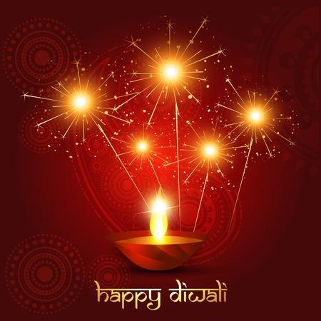 indian light: hermoso fondo diwali con fuegos artificiales