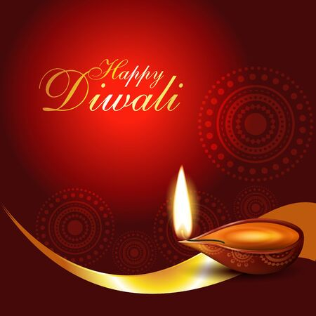beautiful artistic diwali diya vector illustration Stock Vector - 11004486