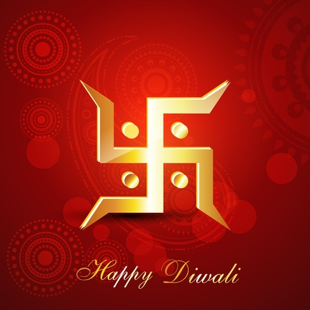 religious diwali vector background Vector