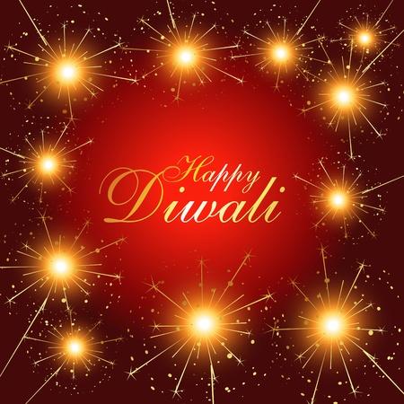 beautiful diwali fireworks stylish vector illustration