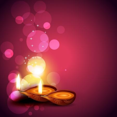 artistique hindou diwali vecteur de fond du festival