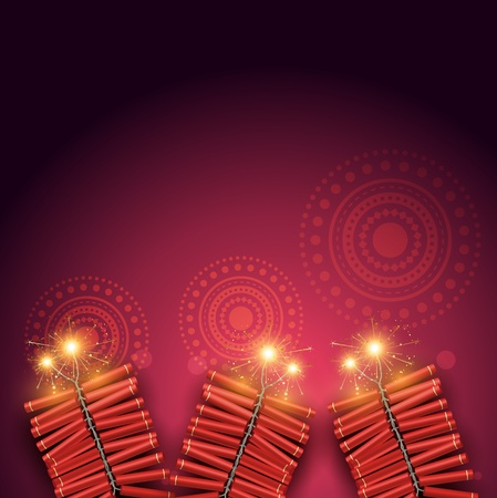 stylish vector festival crackers on artistic background Vector