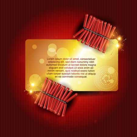 stylish festival crackers with space for your text Vector