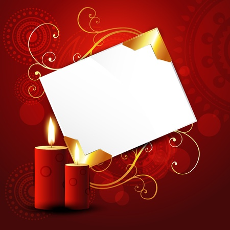 beautiful red candles on artistic background Vector