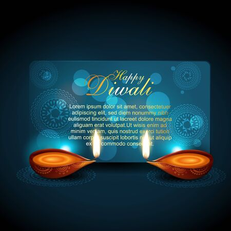 beautiful shiny diwali background with space for your text Stock Vector - 11004409