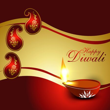 beautiful diwali festival vector background Vector