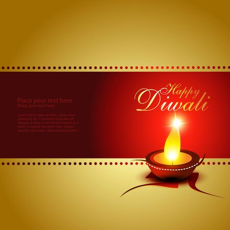 beautiful diwali festival art illustration Vector