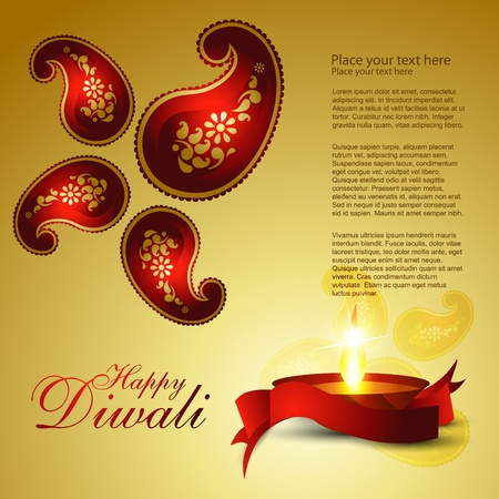 Indian diwali festival vector background Stock Vector - 11004404