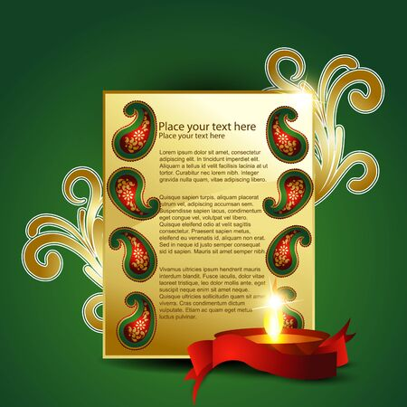 stylish indian diwali festival bbackground Vector