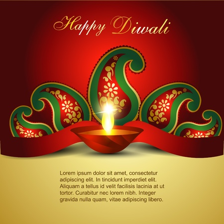 indian art: Artistic Indian diwali festival vector art