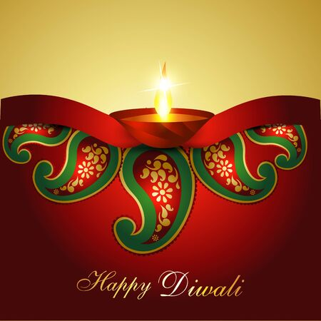 Artistic Indian diwali festival vector art Vector
