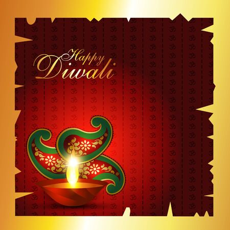 Indian diwali festival vector background Vector