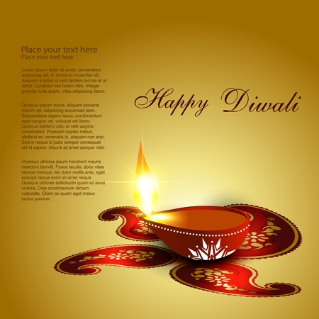 diya: beautiful diwali diya vector background Illustration