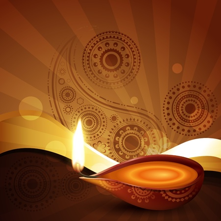 beautiful diwali festival vector illustration Vector