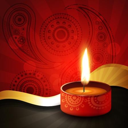 beautiful diwali festival vector background Stock Vector - 11004391