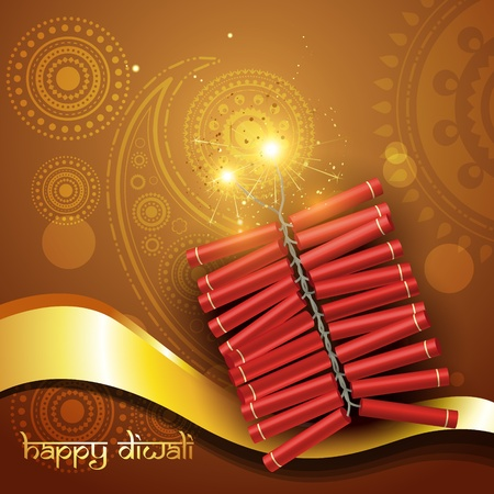 artistic diwali crackers vector background Vector