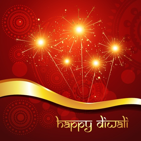 beautiful hindu diwali festival vector art  Vector