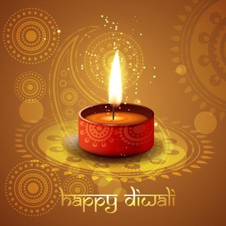 beautiful diwali diya vector background Illustration