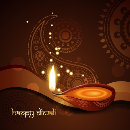 stylish indian diwali festival background Vector