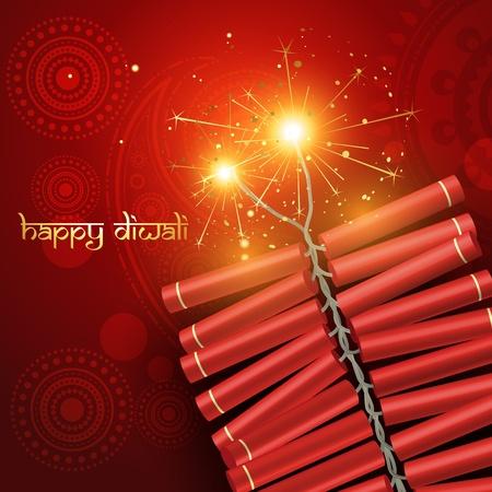 artistic diwali crackers vector background Stock Vector - 11004462