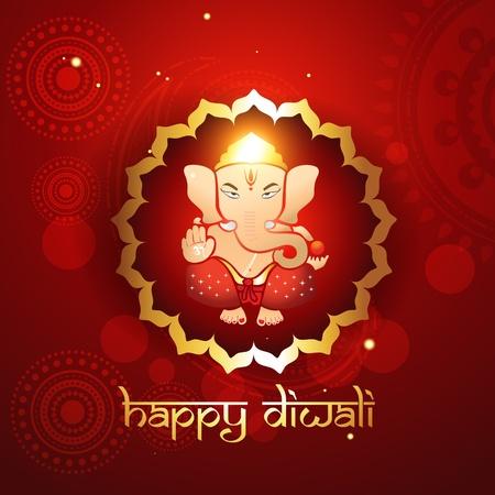 deepawali: hind� Ganesh illustraton