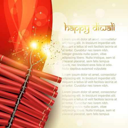 artistic diwali crackers vector background Stock Vector - 11004460