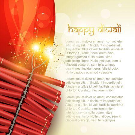 crackers: artistic diwali crackers vector background
