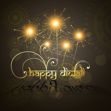 beautiful hindu diwali festival vector art  Stock Vector - 11004467
