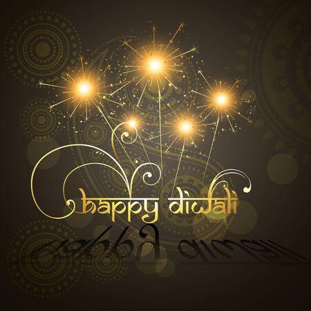 beautiful hindu diwali festival vector art  Vector