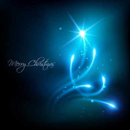 artistic blue color christmas background