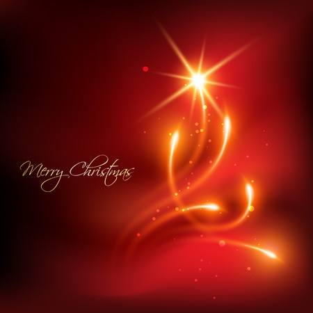 red color merry christmas background Illustration