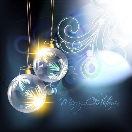 bal: shiny christmas bal on artistic background