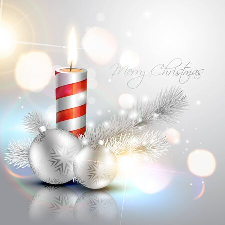 stylish silver christmas vector background Vector
