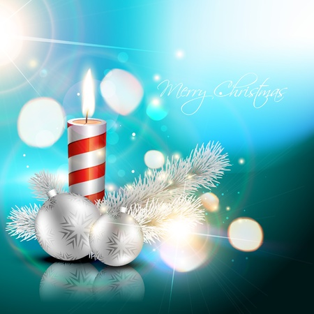 beautiful blue christmas design vector illustration Stock Vector - 11589204