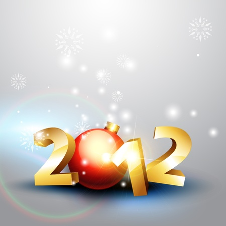 beautiful 2012 happy new year vector background Stock Vector - 11599268
