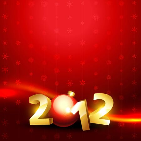 stylish happy new year 3d style vector background Stock Vector - 11599242
