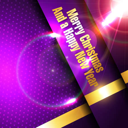 beautiful shiny purple merry christmas background with space for your text Vector