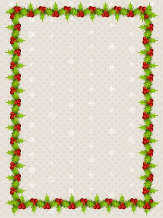 christmas frame: christmas border with space for your text