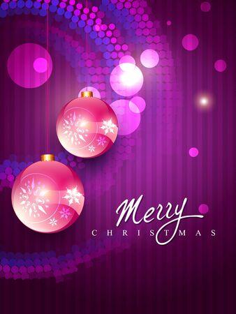 beautiful vector christmas balls illustration Vector