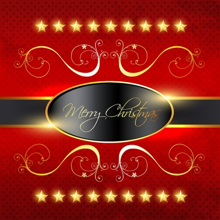 golden frames: vector merry christmas background illustration Illustration