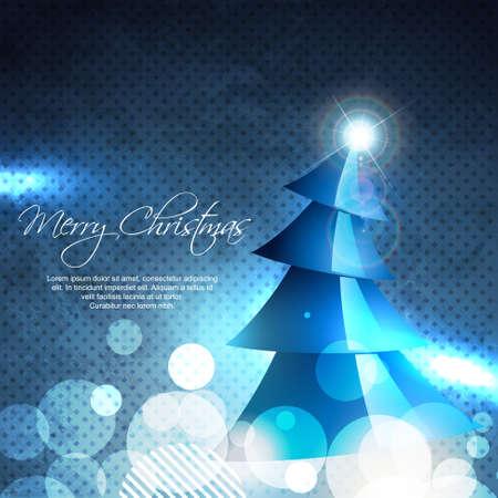 beautiful vector christmas tree shining illustration Vector