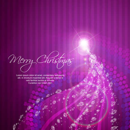 artistic christmas tree background Vector