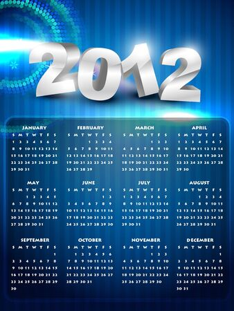 calender design: beautiful shiny new year calender design Illustration