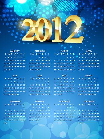 calender design: beautiful shiny new year calender design Illustration