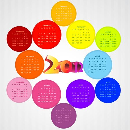vector colorful happy new year design art Stock Vector - 11780691