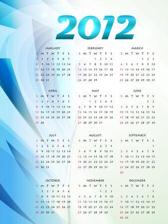 calender design: vector new year 2012 calender design