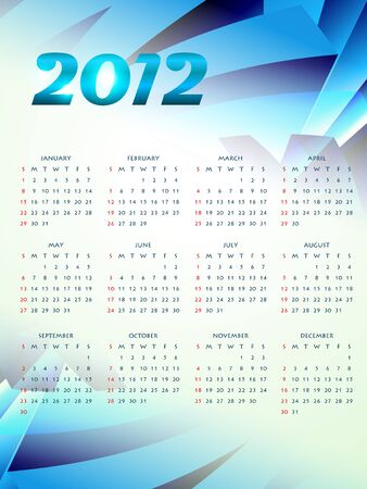 calender design: happy new year 2012 calender design
