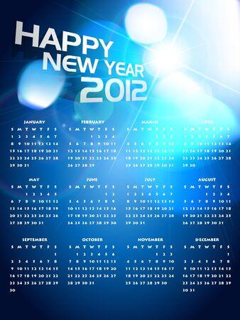 beautiful happy new year shiny calender